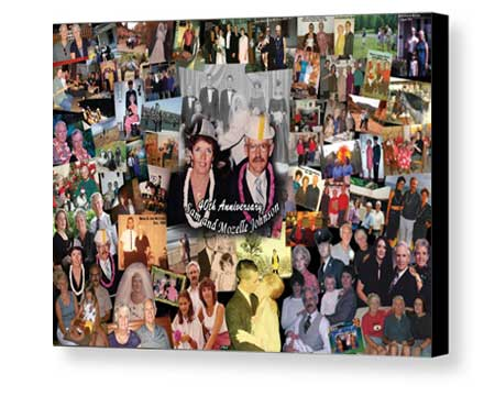 Board Mounting Anniversary photo collage with border