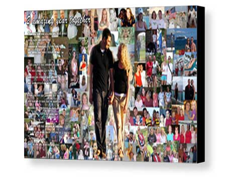 Custom size Coatings and Lamination Board mount panoramic collage