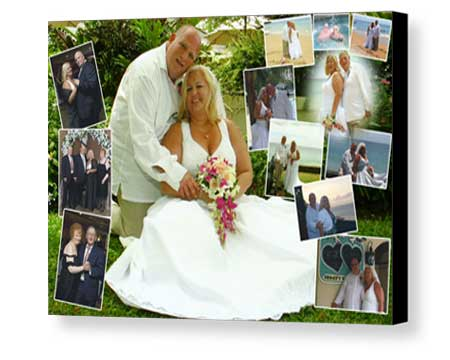 Personalized wedding collage art Mounting