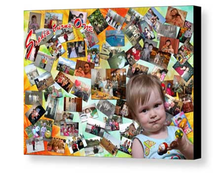 Personalized children Board Mounting collage canvas print