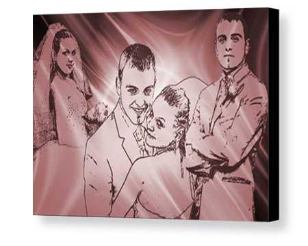 Any size Canvas Board Stylize Pop Art customizable artwork