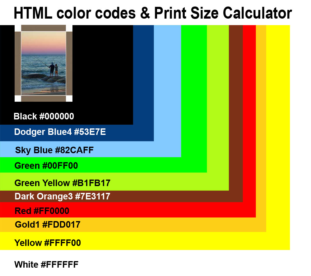 Canvas colored border | HTML color codes