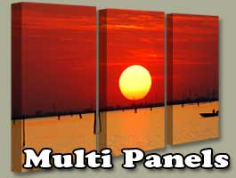 Canvas Wall Art multi-panel sets, pano, clusters  and pieces