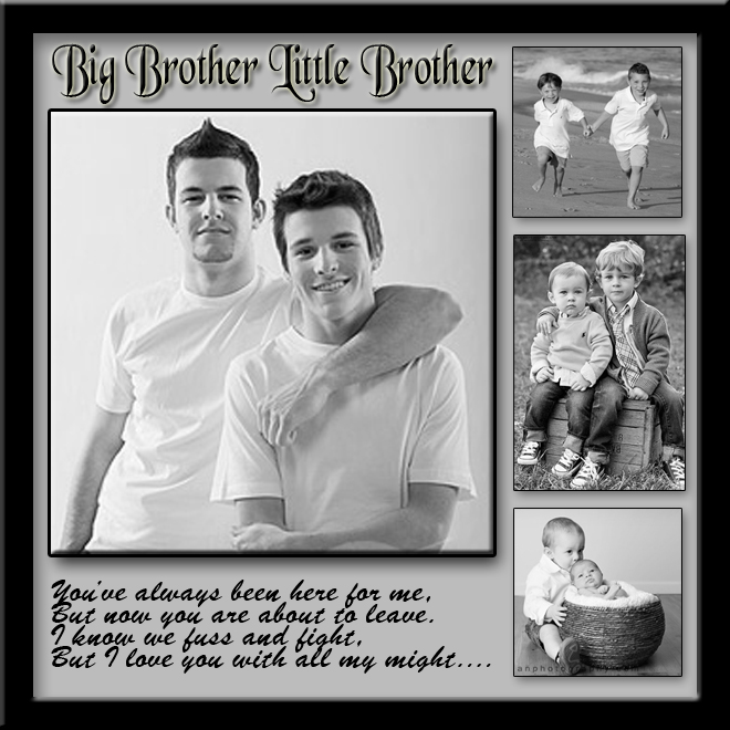 Big Brother Litle Bro Template Design# Family-002