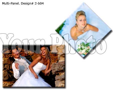 Custom 2 panels canvas print