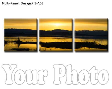 Custom 3 panels canvas print
