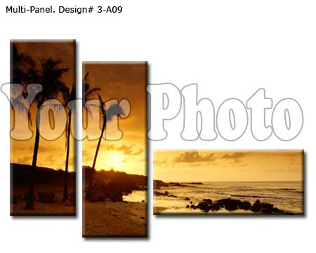 3-Panel Stretched Canvas Prints