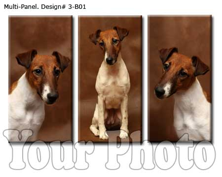 Pet 3 panel canvas set