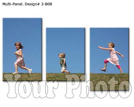 Kids 3 panel canvas set