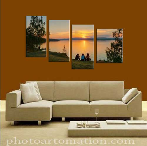 Multi panel canvas wall art for boyfriend room decoration