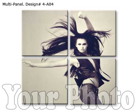 4 panels canvas wall art for Girlfriend room decoration