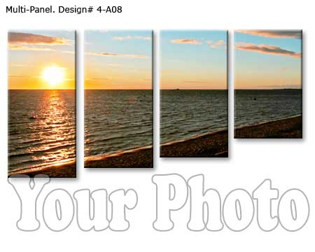 Custom 4 panels canvas print