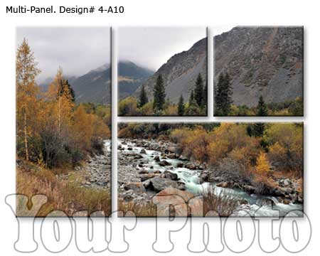 Four panel landscape canvas print