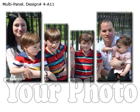 ersonalized 4-panel family portrait wall art