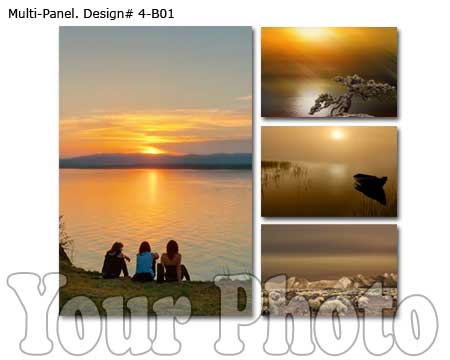 4-panel canvas wall art