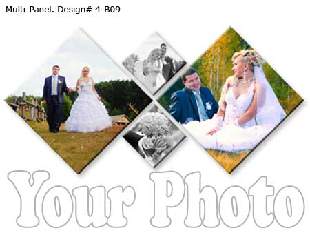 Wedding 4-panel pictures wcanvas wall art design