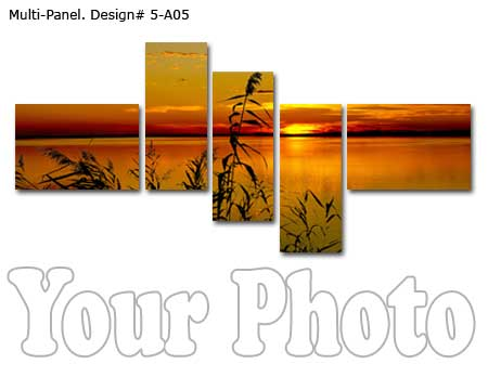 Split photo into 5 panels canvas