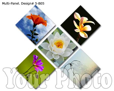 Modernd 5-piece Canvas Set from five pictures