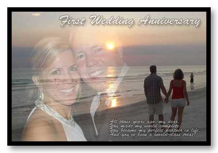 Happy First wedding anniversary multi-photo gift ideas