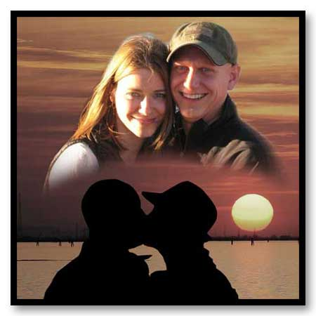Love story Photomontage - Two photo combination