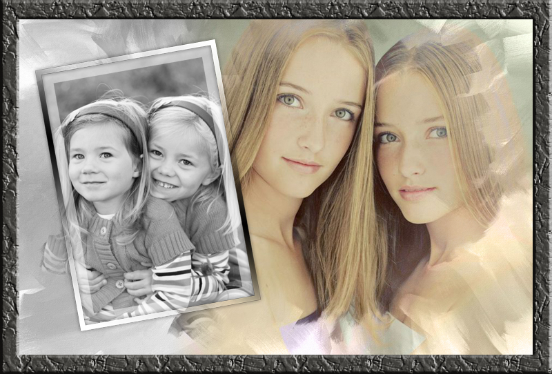 Twin Sisters Then And Now Birthday Gift