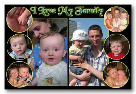 Multi photo family cards