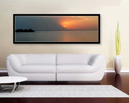 Large format Panoramic Poster Prints - living room