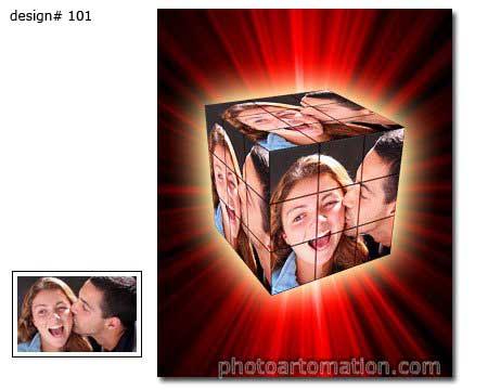 Rubiks Cube photo collagee example 101