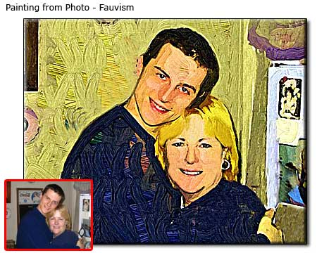 Couple portrait in oil