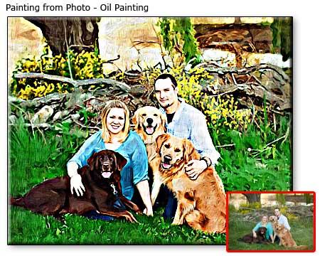 Happy 55th birthday husband, family portrait