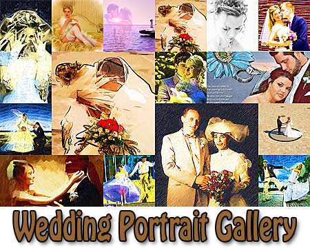 Wedding Portrait Painting from Photo