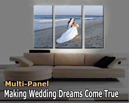 Wedding multi-panel canvas prints  samples