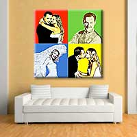 Wedding  photo to Pop Art  as a gift for  anniversary