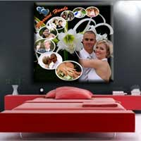 Wedding Photo Collage Painting