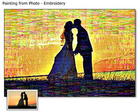 Painting As Wedding Gift : Custom Embroidery Paintings