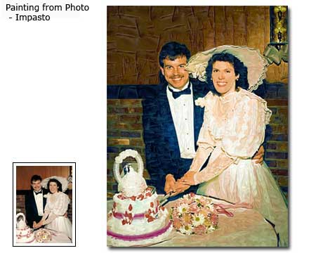 The wedding pictures paintings anniversary gift ideas