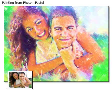 Pastel painting Wedding Portrait