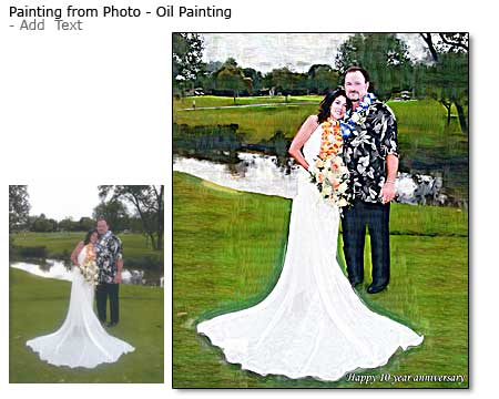Wedding Portrait oil painting from photo, 24x16