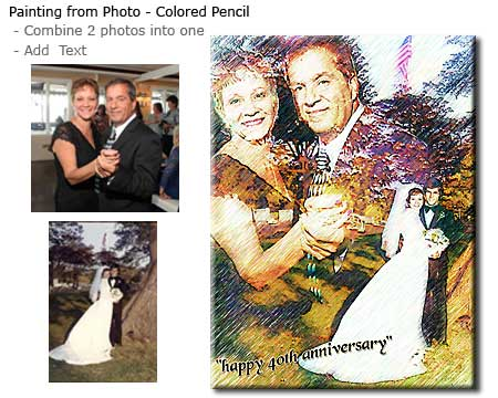 Wedding Anniversary gift - Combine two photos into one
