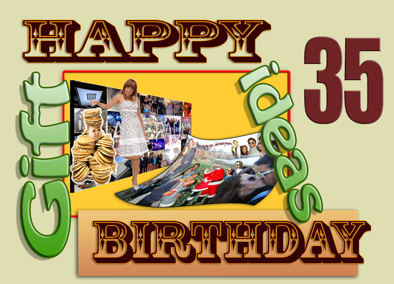 Birthday Gift Ideas: 35 Years. Personalized 35th Birthday ...