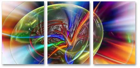 3-Panel Canvas Abstract Print