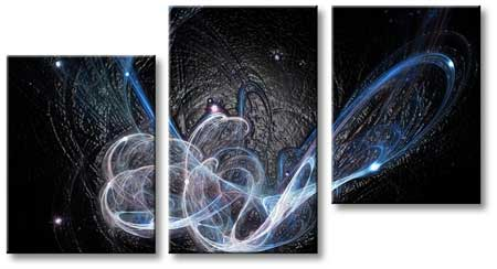 Split Abstract Canvas Artwork