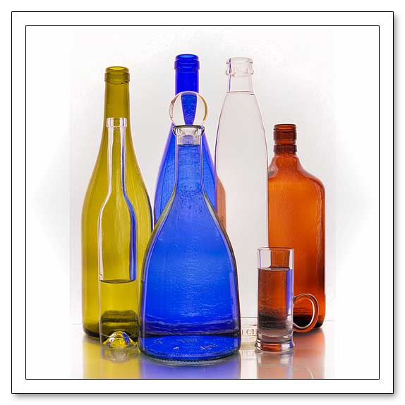 Still Life in Warhol Pop Art Style, Bottles Metal Print