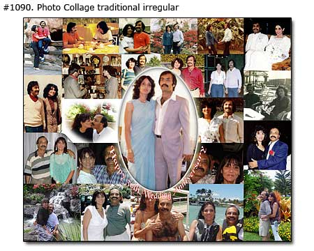 25th anniversary photo gift for husband, picture collage