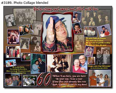 Dad's 60th birthday collage - You're strong and smart and filled with love