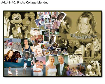 40th picture collage for wife, husband birthday, good for 40, 41, 42, 43, 44, 45 year old mom and dad