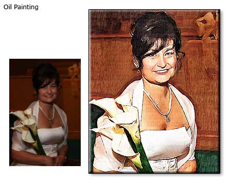 20x30 Wife portrait oil painting from photo to canvas