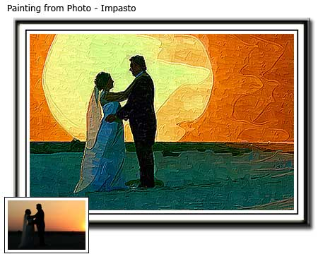 Birthday wedding portrait painting from photo