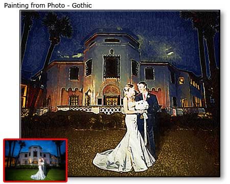 45x50 Wife-husband wedding portrait painting artwork